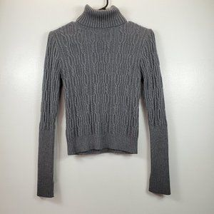 ZARA Women's Gray Turtleneck Cable Knit Sweater M